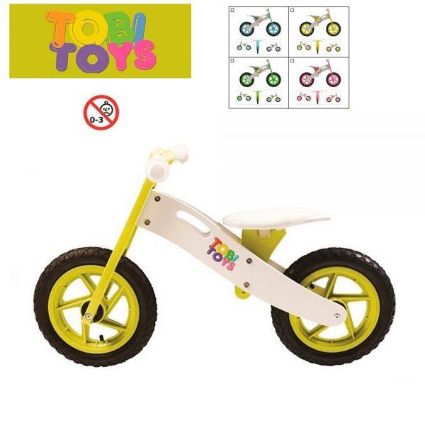 Bicicleta de madera para niños/as