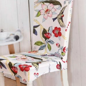 Funda de silla para comedor Spandex con diseño